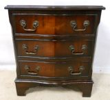 SOLD - Small Mahogany Serpentine Front Chest of Drawers